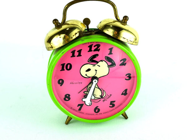 1970 Snoopy Blessing Alarm Clock West Germany Peanuts Gang Character - Chaseybluevintage
