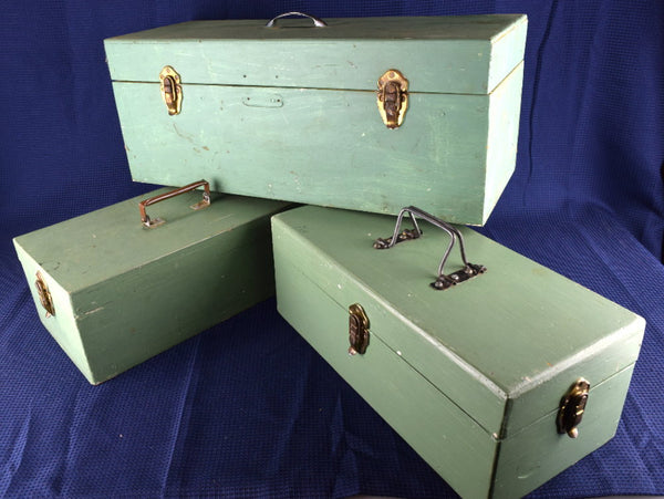 Vintage Wood Boxes Heavy Duty Hand Made with Lids 3 To Choose From - Chaseybluevintage
