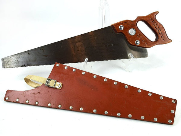 Vintage Hand Saw Wood Handle with Sheath Handsaw by Pennsylvania Chaseybluevintage