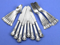 Signature Old Company Plate Silverware Silverplate Vintage Service for 8 with S Monogram 24 Piece Set Knives Dinner Forks Teaspoons Chaseybluevintage