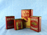 Antique Rusty Red Spice Tins and Bon Ami Collection Chaseybluevintage