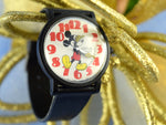 Vintage Mickey Mouse Wristwatch Water Resistant Sweeping Second Hand Works - Chaseybluevintage