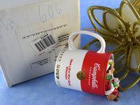 Vintage Campbell's Soup Ornament Kids in Coffee Cup - Chaseybluevintage