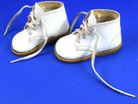 Vintage White Leather Baby Shoes Toddler Walking High Top Ankle Support Size 3 - Chaseybluevintage