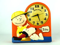 70s Charlie Brown Alarm Clock with Barking Snoopy Vintage Peanuts Gang - Chaseybluevintage