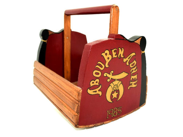 Vintage Abou Ben Adhem Shoe Shine Box Masonic Shriners Hand Crafted All Wood Chaseybluevintage