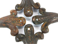 Antique Cast Iron Furniture Legs Flor De Lis Style Footed Legs for Stool Sofa Chaseybluevintage