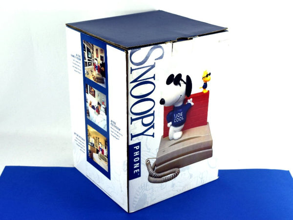 Vintage Snoopy Telephone with Woodstock New in Box Joe Cool Peanuts Character Push Button Phone Chaseybluevintage