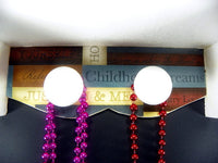 Wood Friendship Jewelry Box Hangs on the Wall with Porcelain Necklace Knobs - ChaseyBlueVintage