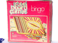 Vintage Large Metal Bingo Game Board Ready to Play or Game Room Wall Decor - ChaseyBlueVintage