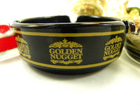 Las Vegas Golden Age 1960s Casino Glass Ashtrays - ChaseyBlueVintage