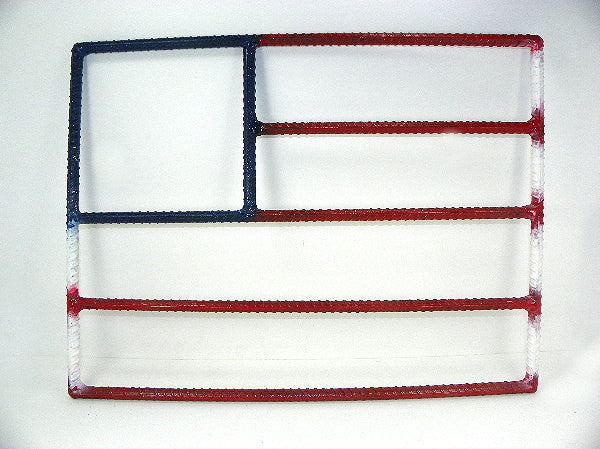 Rebar Art 20 Inch American Flag Metal Wall Hanging - ChaseyBlueVintage