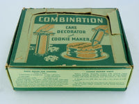 Vintage Cake Decorator and Cookie Maker Gun Press with Recipes on Box - ChaseyBlueVintage