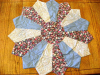 Quilted Table Cover Dresden Plate Pattern Centerpiece in Choice of Colors - ChaseyBlueVintage
