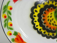 Large Metal Turkey Platter Colorful Enamelware - ChaseyBlueVintage