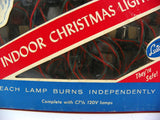Set of 25 Indoor Christmas Lights C7 Bulbs In Original Box Vintage - ChaseyBlueVintage