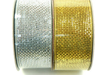 Silver and Gold Mesh Craft Ribbon New - ChaseyBlueVintage