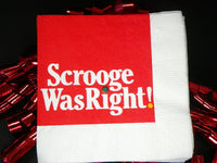 Vintage Christmas Cocktail Napkins Scrooge Was Right - ChaseyBlueVintage
