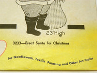 Aunt Marthas 23 inch Santa Claus Pattern for Wood Cut Out or Embroidery - ChaseyBlueVintage