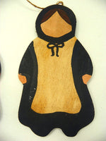Wood Amish Wall Hangings Hand Made Rustic Folk Wall Art or Shelf Decor - ChaseyBlueVintage