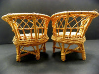 Vintage Wicker Doll Chairs Natural Wooden Doll Furniture - ChaseyBlueVintage