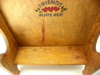 Wood Doll Bench with Friends Forever Stencil - ChaseyBlueVintage