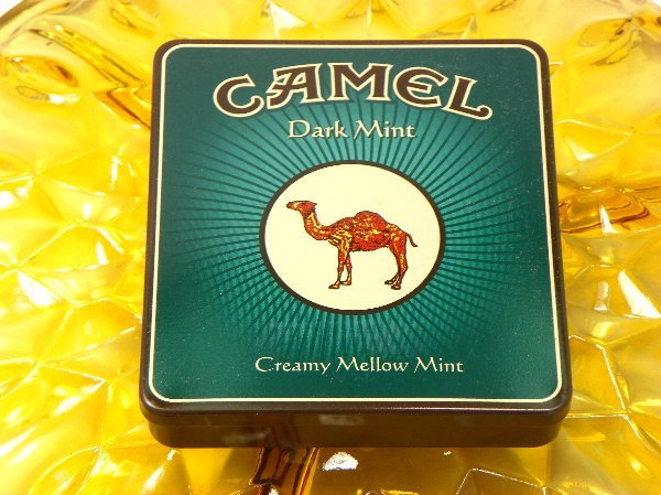 Cigarette Tin Vintage Camel Tobacco 1980s Made in Germany Dark Mint - Chaseybluevintage