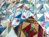 10 Quilt Blocks Triangle Pattern Ready to Sew Quilting and Crafts - ChaseyBlueVintage