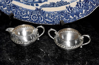 Vintage Silver on Copper Tea Set by Sheridan Silver Company - ChaseyBlueVintage