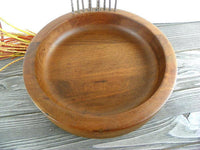 Large Vintage Walnut Bowl with Nutcracker and 6 Picks - ChaseyBlueVintage