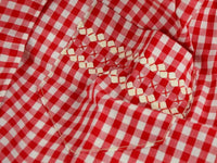 Vintage Red Kitchen Potholders and Red Gingham Check Apron - ChaseyBlueVintage