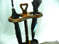 Vintage Umbrella Stand Holder Early American Wood - ChaseyBlueVintage
