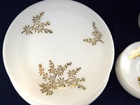 Vintage 4 Piece Set of Golden Glory Dinner Table Place Setting Plate Bowl Cup Saucer - Chaseybluevintage