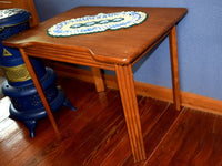 Vintage Childrens Wood Desk Table with Recessed Seating Area - ChaseyBlueVintage