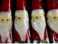 4 Vintage Santa Claus Taper Candles Unused Unopened Christmas Decor - ChaseyBlueVintage