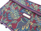 Vintage Jordace Luggage Burgundy Tapestry Weekender Overnight Bag Suitcase with Keys - Chaseybluevintage