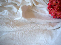 Vintage Matelasse Bedspread French Farmhouse White Cotton - ChaseyBlueVintage