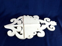 "Vintage White Wood Shelf Ornate Hand Made 20"" Tall - ChaseyBlueVintage"