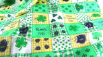 St Patricks Day Yardage Fabric 2 Inch Patchwork Design - ChaseyBlueVintage