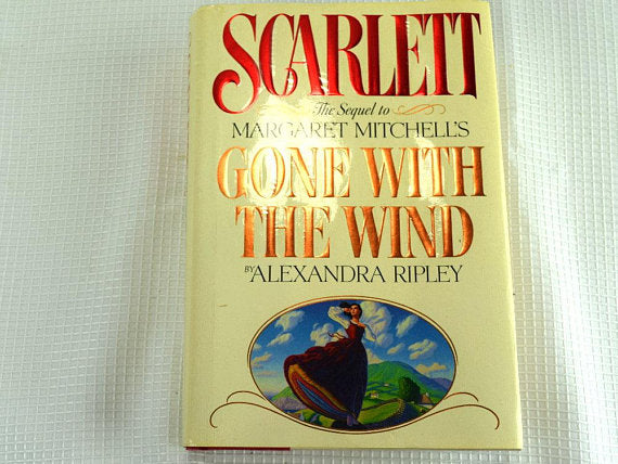 Scarlett Hardback Book The Sequel to Gone With The Wind - ChaseyBlueVintage