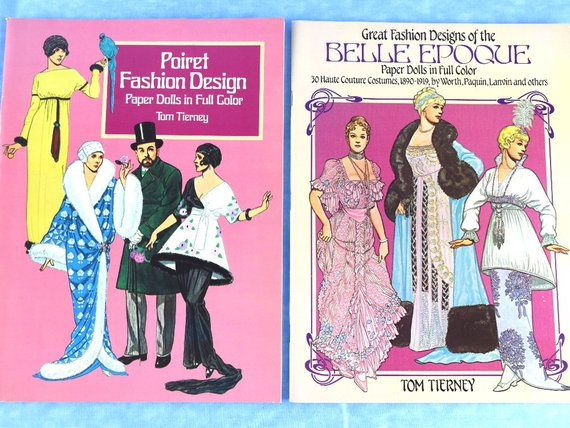 2 Paper Doll Books Turn of the Century Motif by Tom Tierney Brand New Unused Uncut - ChaseyBlueVintage