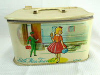 Mid Century Little Miss Traveler Train Case by Ponytail - ChaseyBlueVintage
