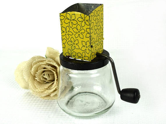 Vintage Yellow Nut Grinder by Androck Classic Mid Century Kitchen - ChaseyBlueVintage