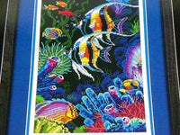 Colorful Sealife Angel Fish Cross Stitch Kit - ChaseyBlueVintage