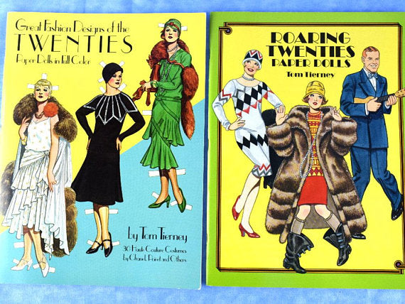 2 Roaring Twenties Paper Doll Books by Tom Tierney Brand New Unused - ChaseyBlueVintage