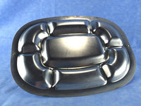 Vintage Chrome Serving Platter Stainless Steel Tray Divided Compartments Bakelite Handle Chaseybluevintage