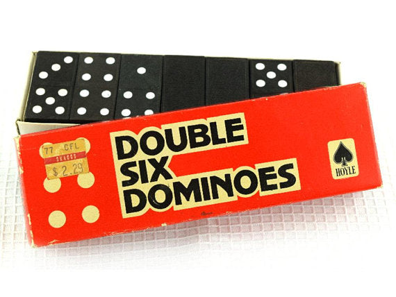 Vintage Wood Dominoes Game Double Six by Hoyle - ChaseyBlueVintage