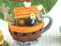 Miniature Resin Noah's Ark Tea Set with Serving Platter - ChaseyBlueVintage
