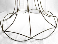 Victorian Lamp Shade Frame Metal Large Bell Shape Scallop Edge - ChaseyBlueVintage