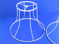 Pair of Lamp Shade Frames Metal Light Shades for DIY Project - ChaseyBlueVintage